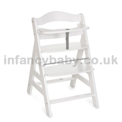 HAUCK ALPHA+ WOODEN HEIGHT ADJUSTABLE HIGHCHAIR WITH 5 POINT HARNESS