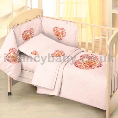 Baby Cot Bedding Set Angel Peony Anne Geddes Bed
